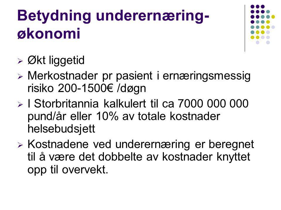 Betydning underernæring- økonomi