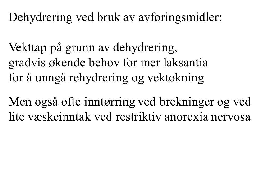 Dehydrering ved bruk av avføringsmidler: