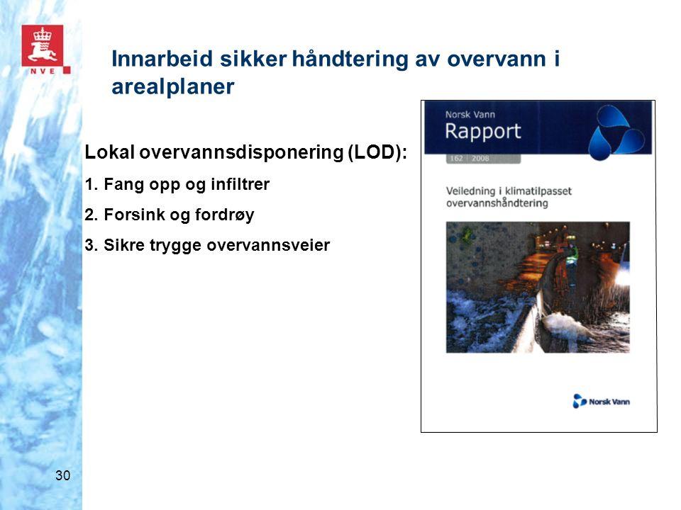 Innarbeid sikker håndtering av overvann i arealplaner