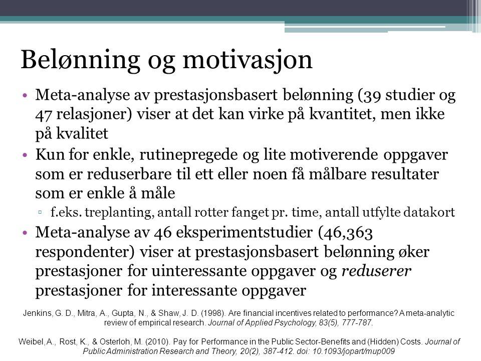 Belønning og motivasjon