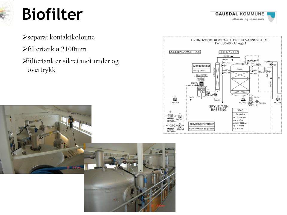 Biofilter separat kontaktkolonne filtertank ø 2100mm
