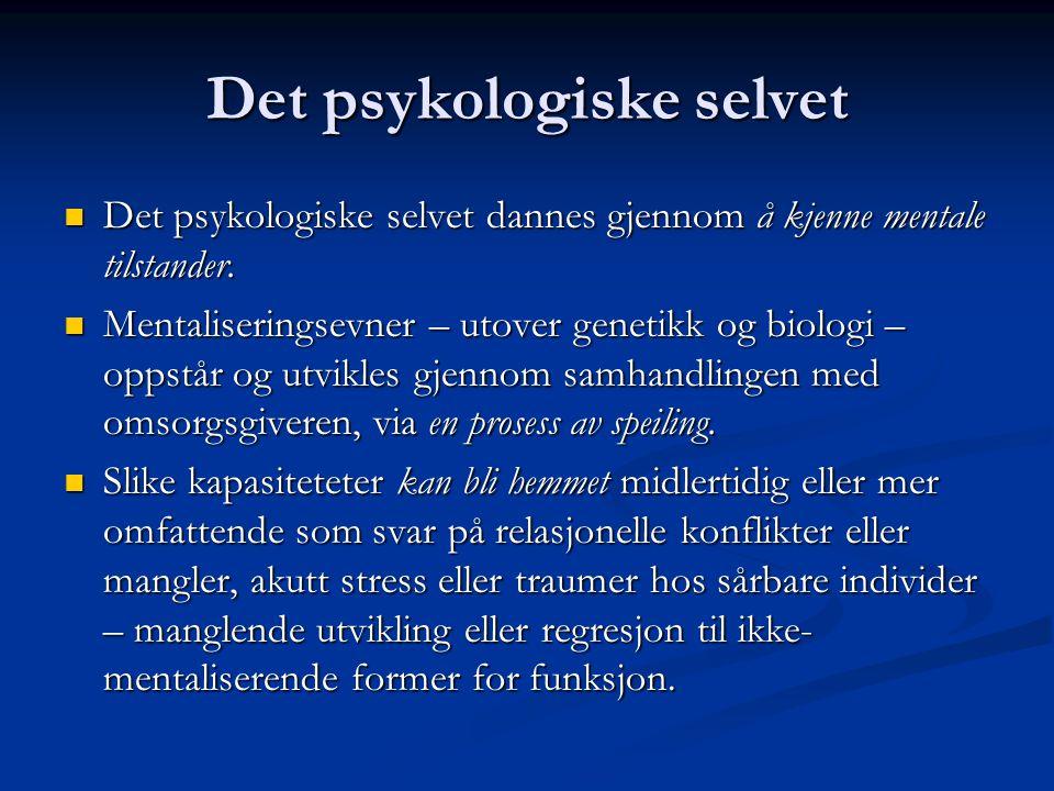 Det psykologiske selvet