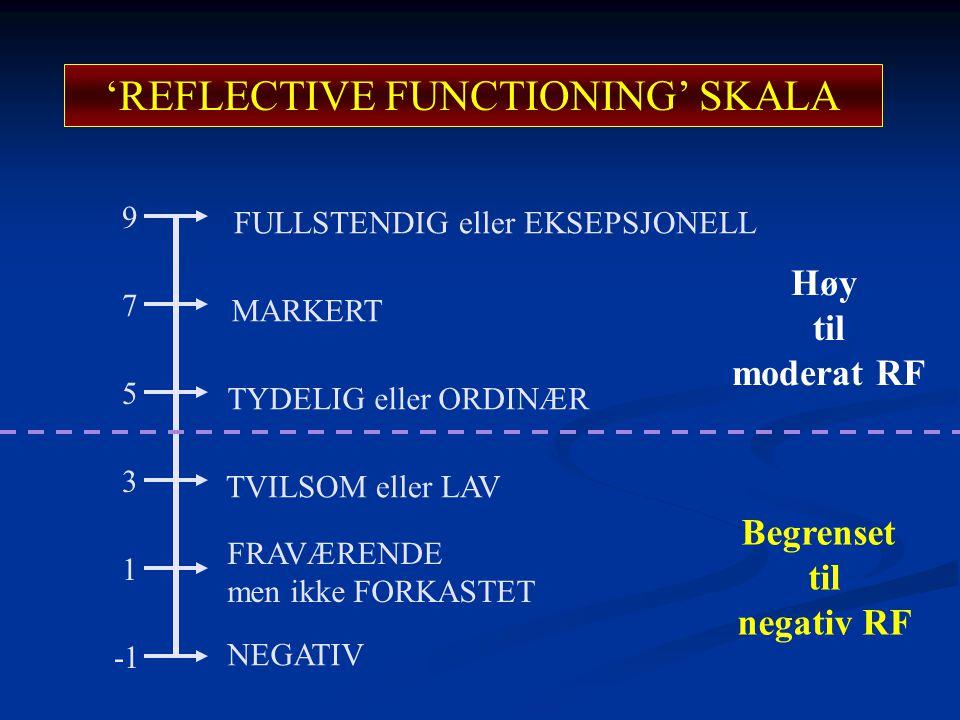 'REFLECTIVE FUNCTIONING' SKALA