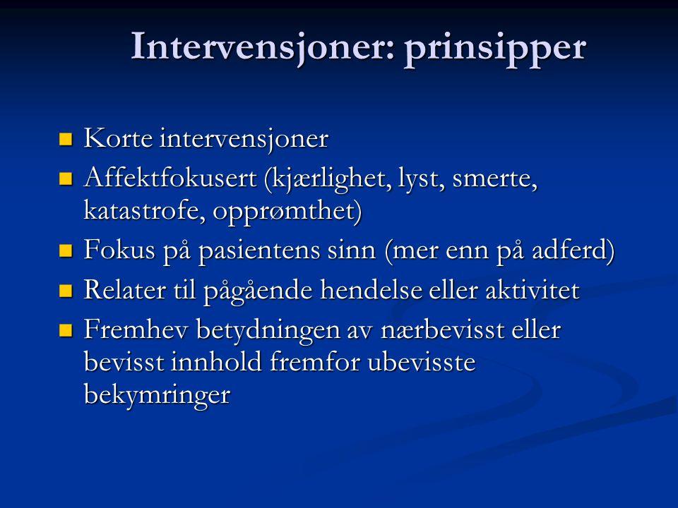 Intervensjoner: prinsipper