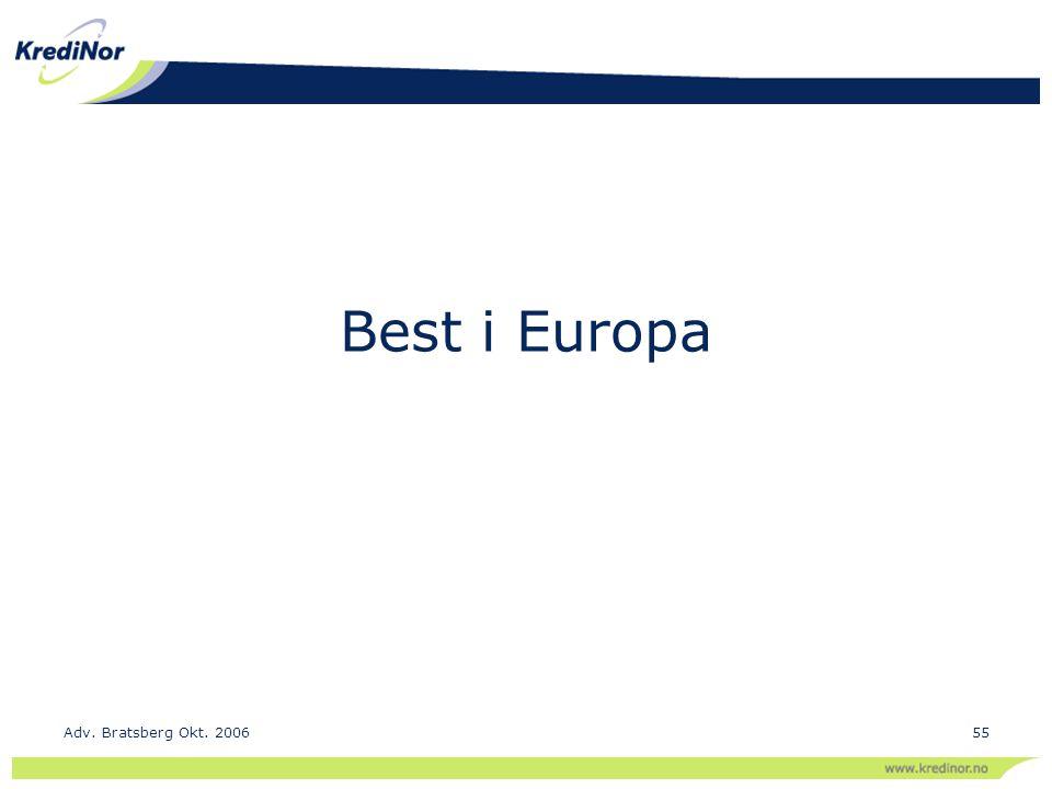 Best i Europa Adv. Bratsberg Okt. 2006
