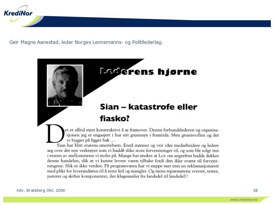 Geir Magne Aanestad, leder Norges Lennsmanns- og Politilederlag.