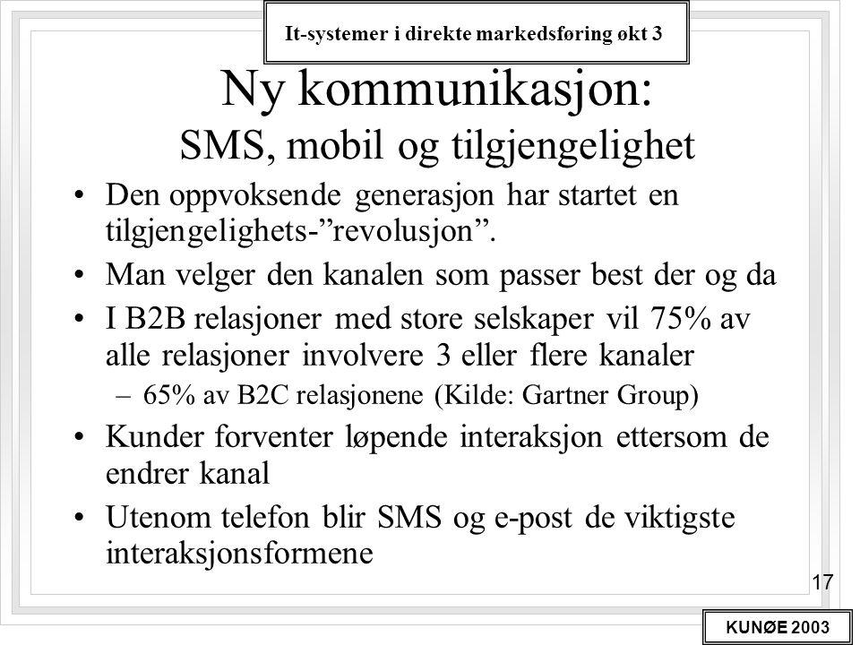 Ny kommunikasjon: SMS, mobil og tilgjengelighet