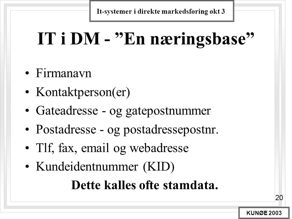 IT i DM - En næringsbase