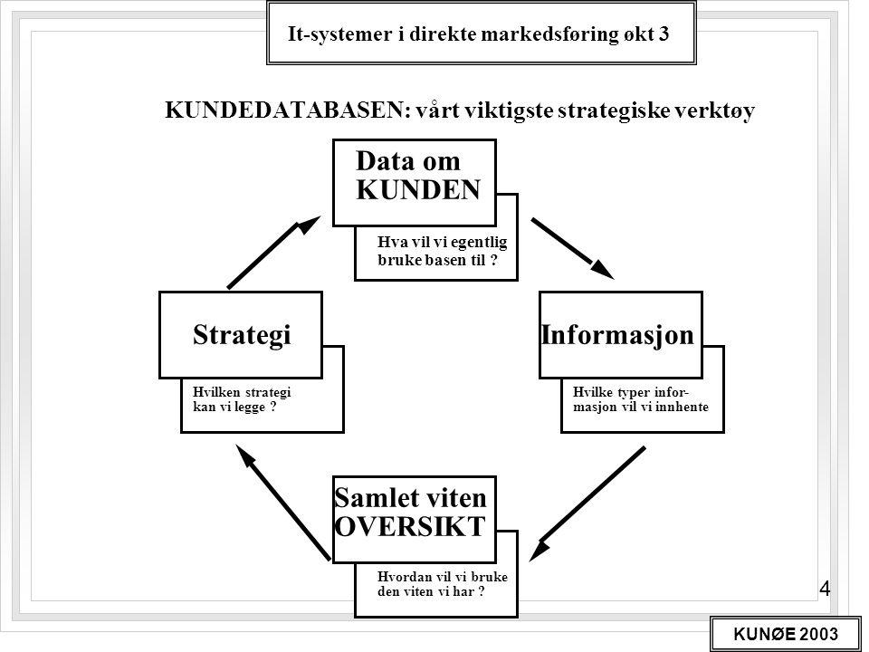 KUNDEDATABASEN: vårt viktigste strategiske verktøy