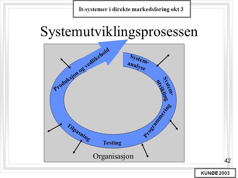 Systemutviklingsprosessen