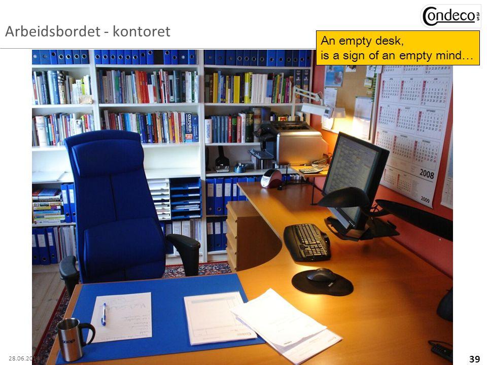 Arbeidsbordet - kontoret