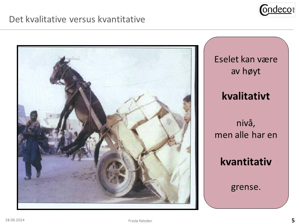 Det kvalitative versus kvantitative