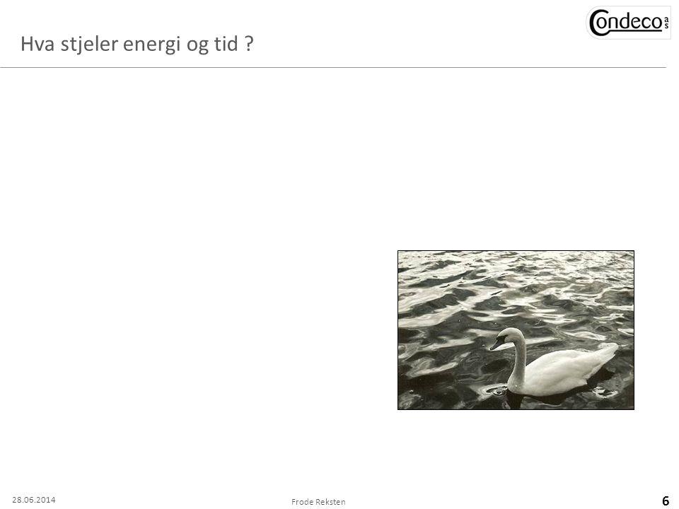 Hva stjeler energi og tid