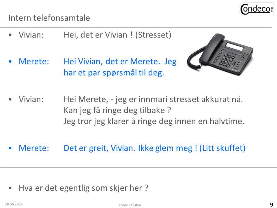 Intern telefonsamtale