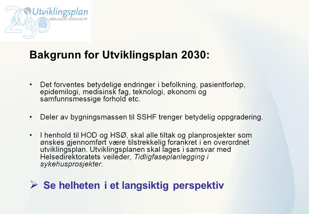 Bakgrunn for Utviklingsplan 2030: