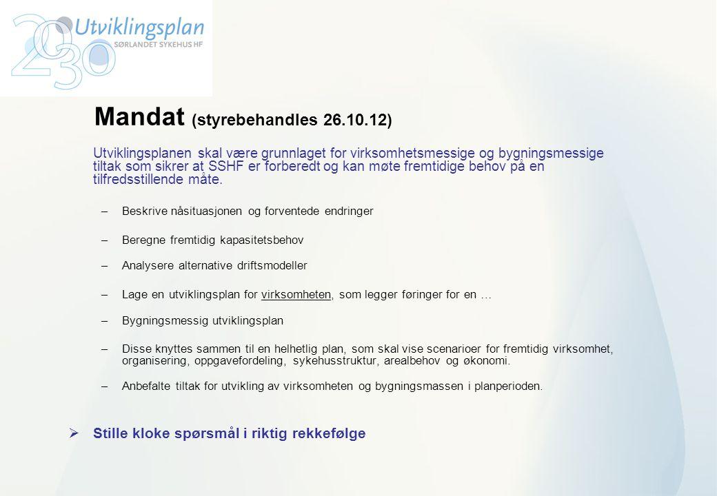 Mandat (styrebehandles 26.10.12)