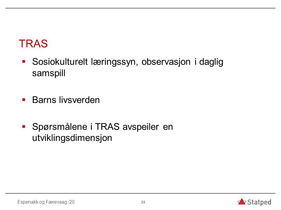 TRAS Sosiokulturelt læringssyn, observasjon i daglig samspill