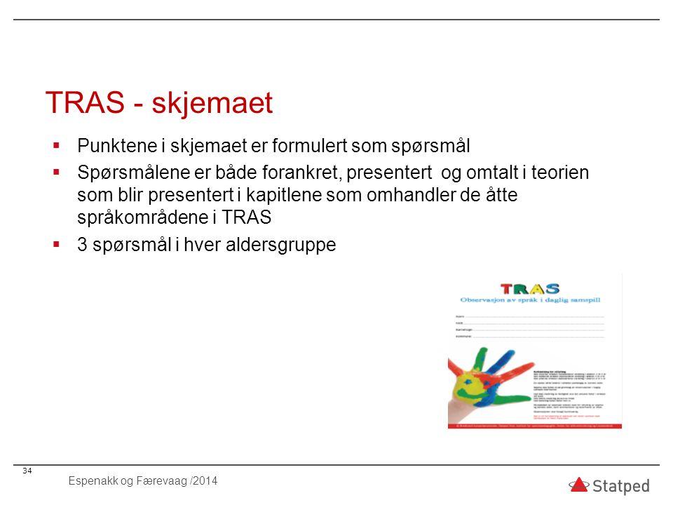 TRAS - skjemaet Punktene i skjemaet er formulert som spørsmål