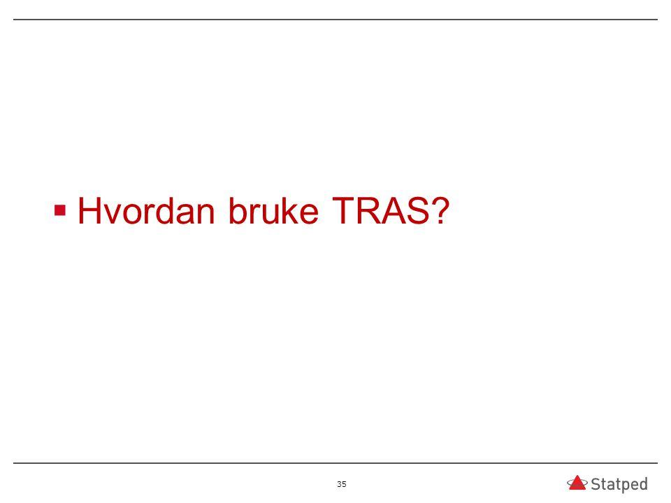 Hvordan bruke TRAS