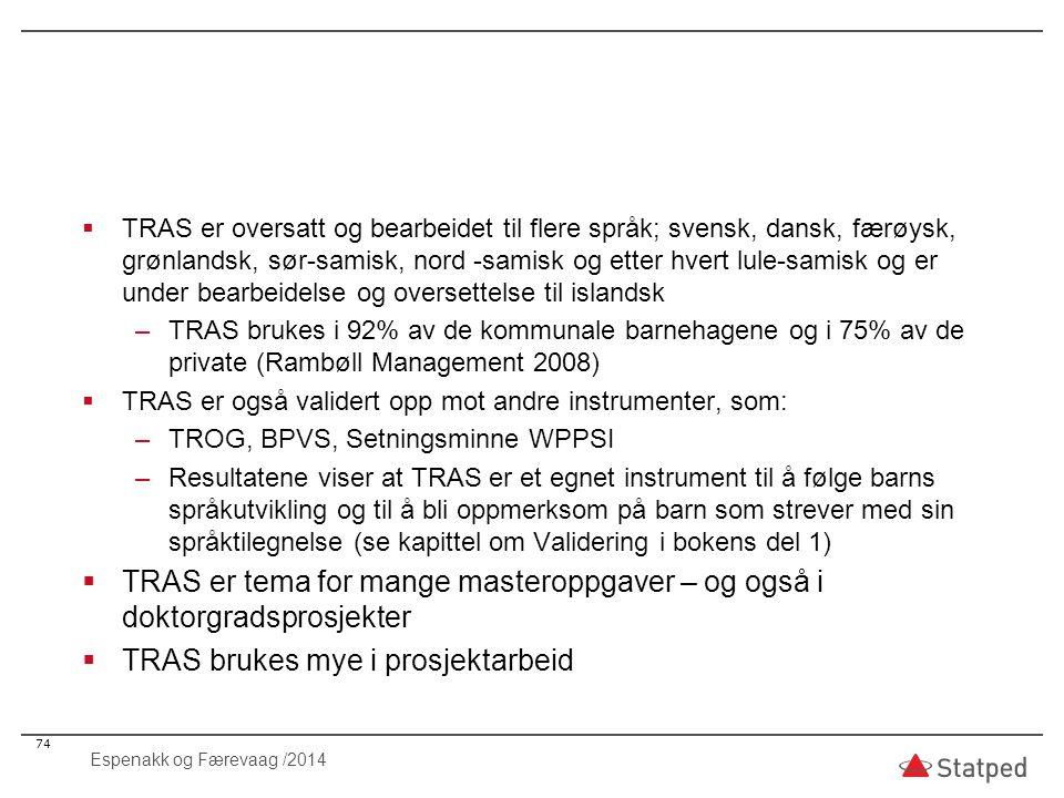 TRAS brukes mye i prosjektarbeid