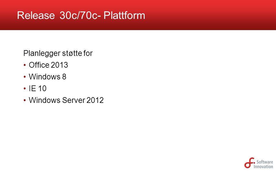Release 30c/70c- Plattform
