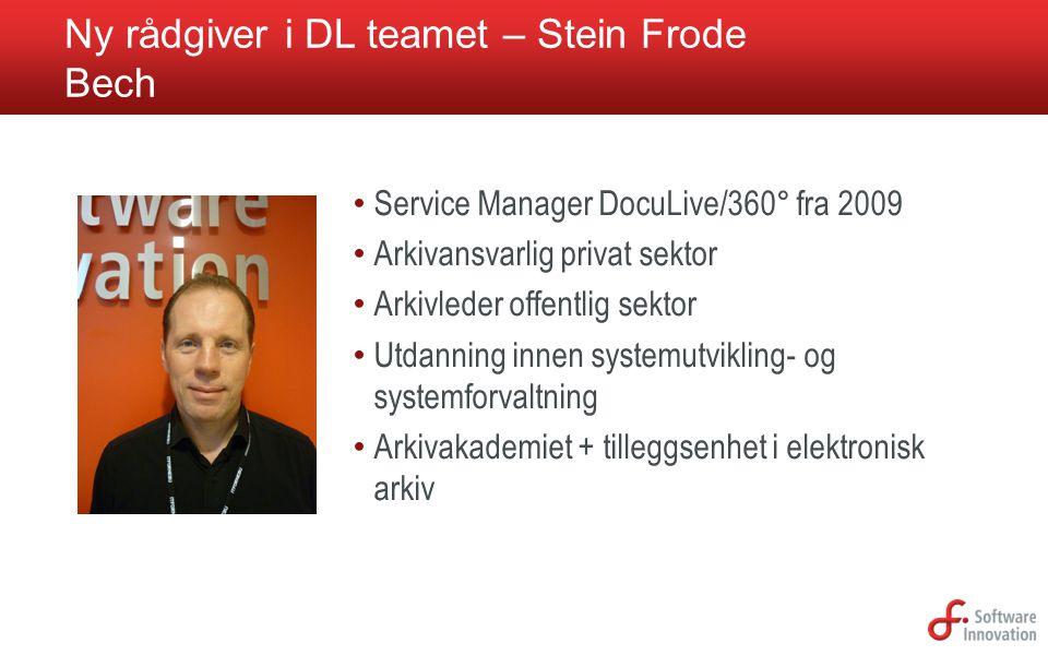 Ny rådgiver i DL teamet – Stein Frode Bech