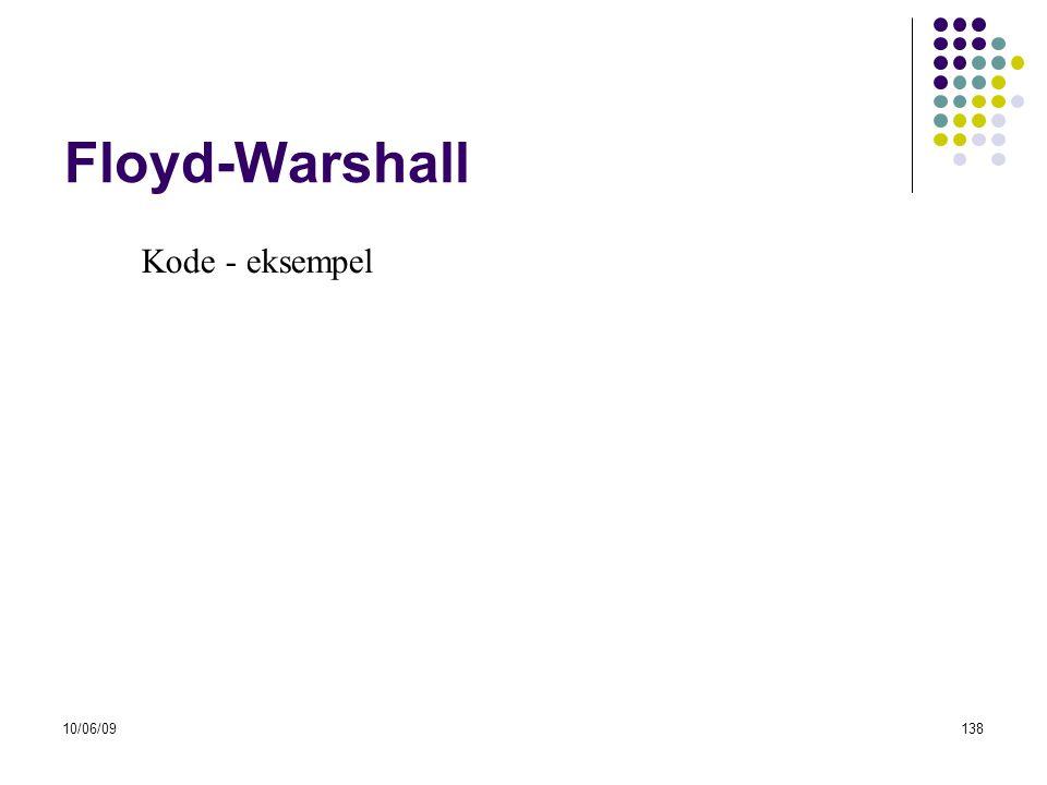 Floyd-Warshall Kode - eksempel 10/06/09