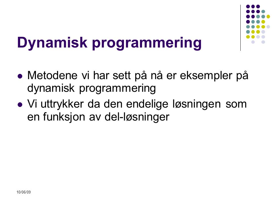 Dynamisk programmering