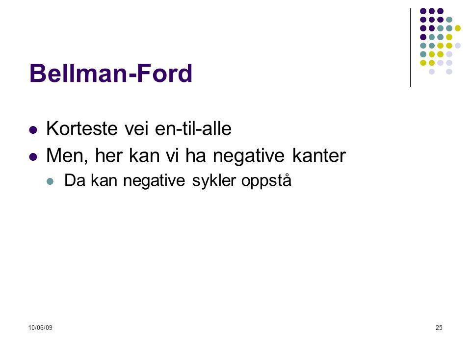 Bellman-Ford Korteste vei en-til-alle