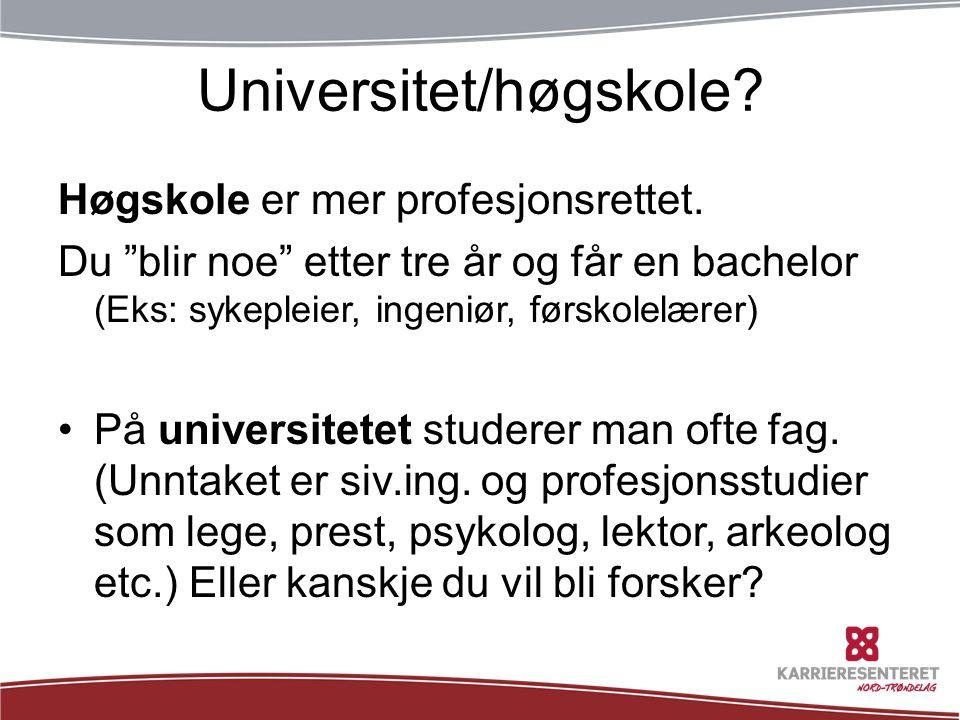 Universitet/høgskole