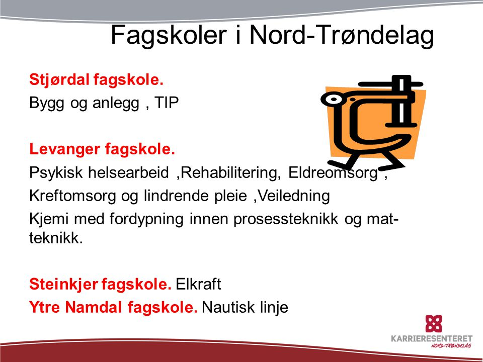 TøffeFagskoler i Nord-Trøndelag tider: