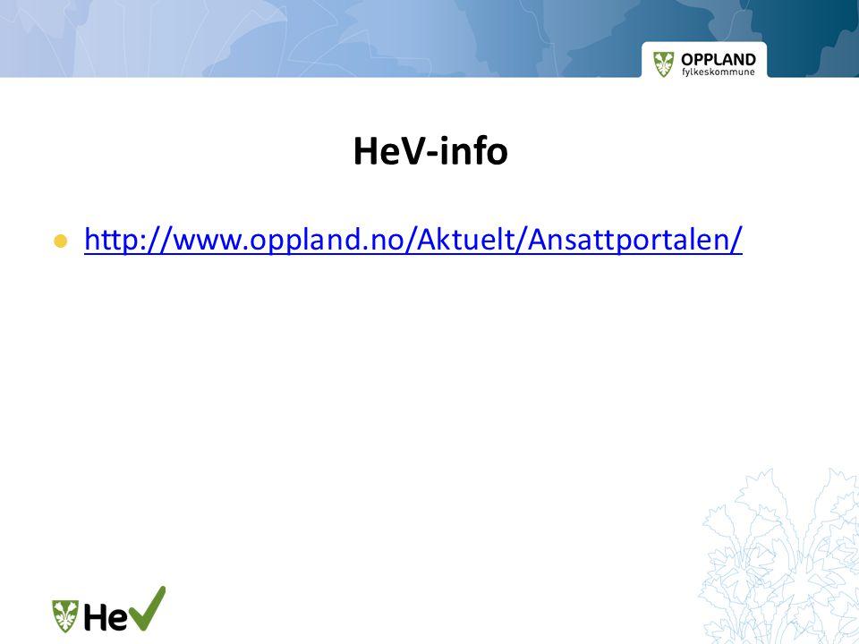 HeV-info http://www.oppland.no/Aktuelt/Ansattportalen/