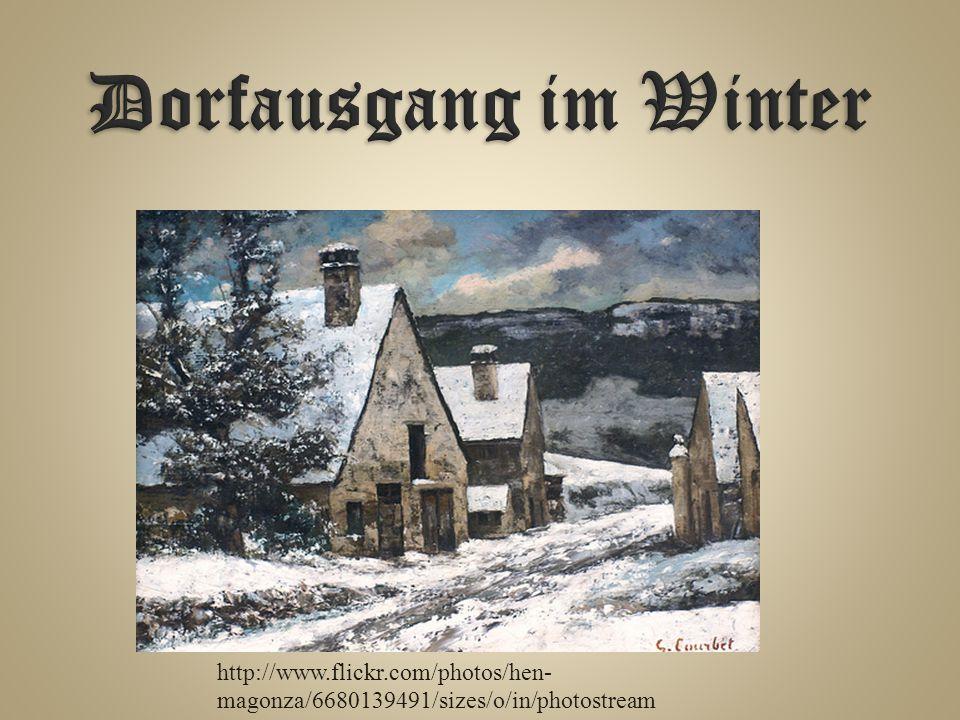 Dorfausgang im Winter Dorfausgang im Winter, 1868.