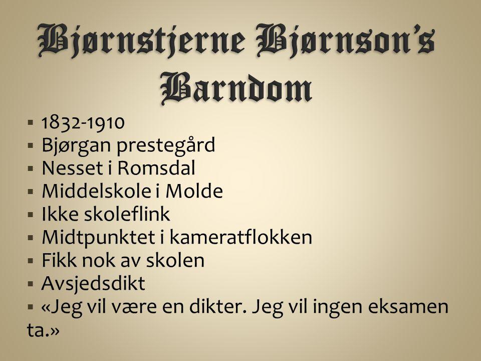 Bjørnstjerne Bjørnson's Barndom
