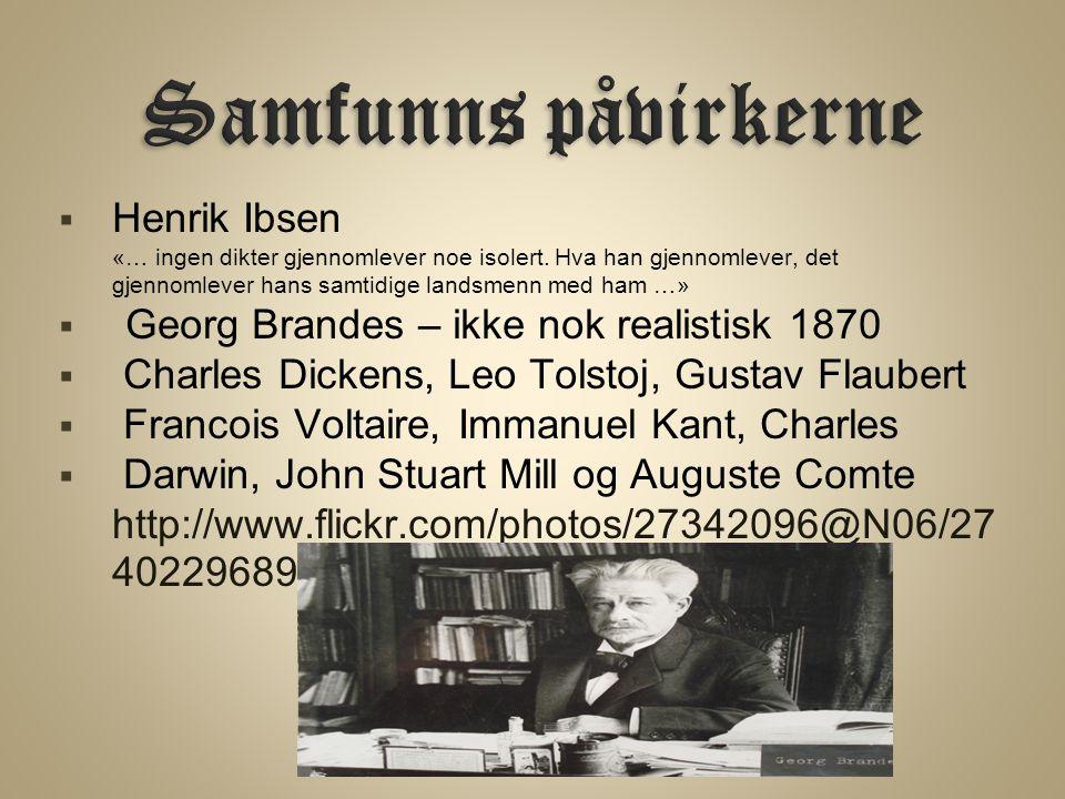 Samfunns påvirkerne Henrik Ibsen