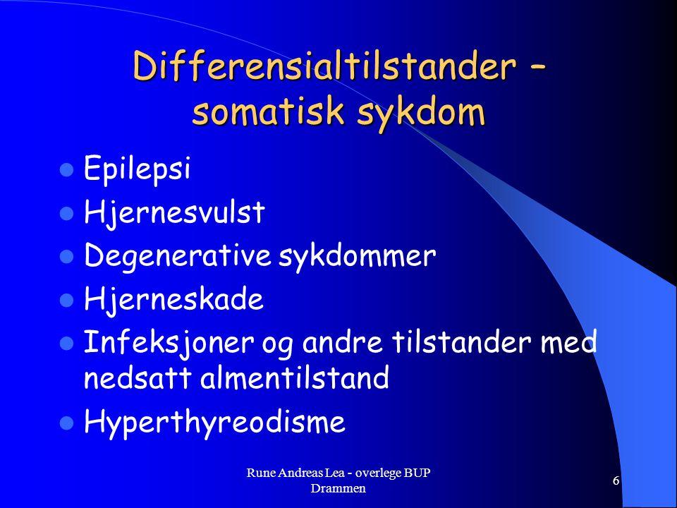 Differensialtilstander – somatisk sykdom