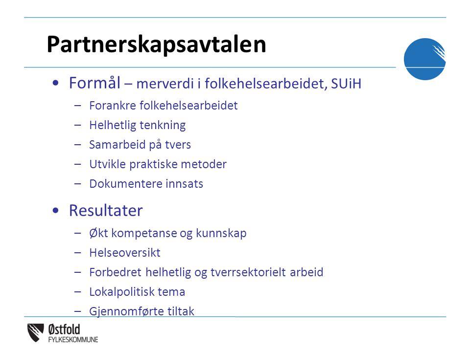 Partnerskapsavtalen Formål – merverdi i folkehelsearbeidet, SUiH