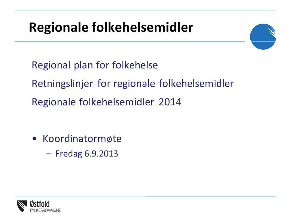 Regionale folkehelsemidler