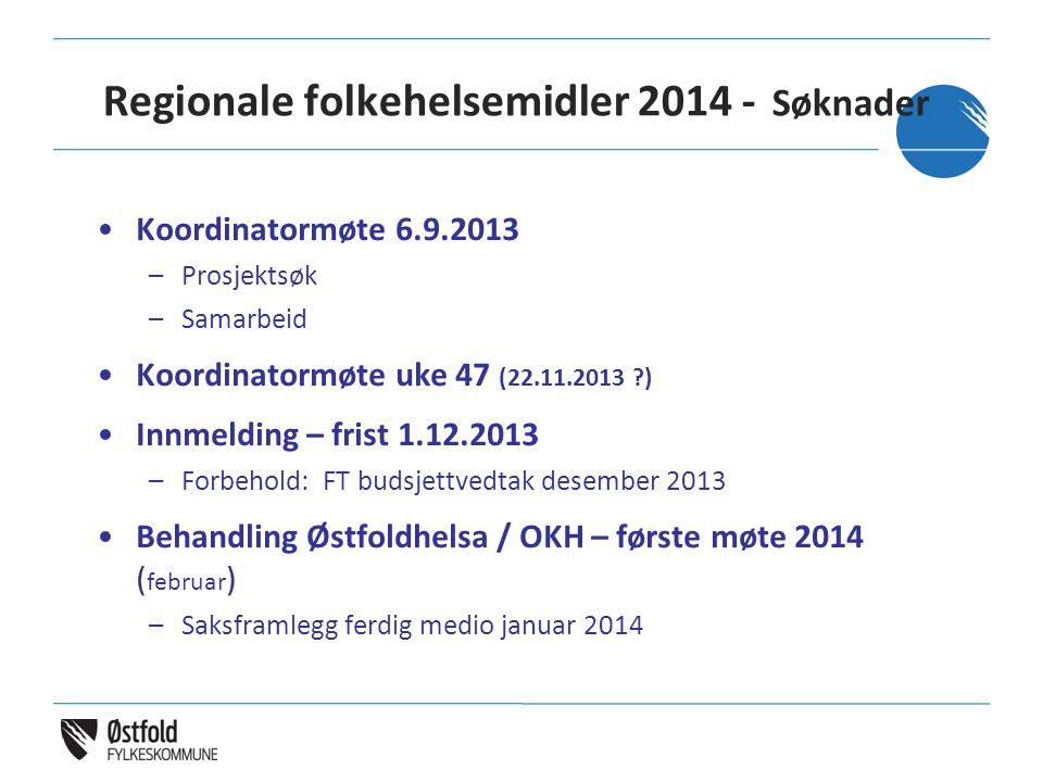 Regionale folkehelsemidler 2014 - Søknader