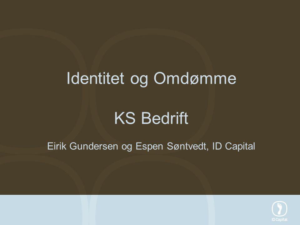 KS Bedrift Eirik Gundersen og Espen Søntvedt, ID Capital