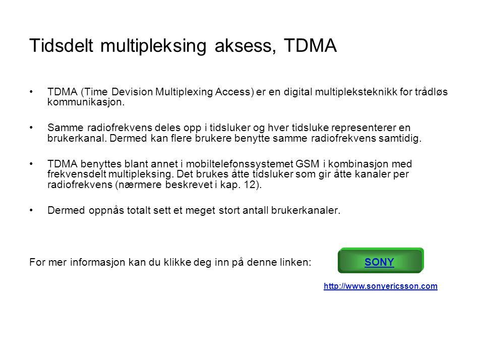 Tidsdelt multipleksing aksess, TDMA