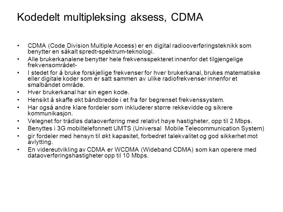 Kodedelt multipleksing aksess, CDMA