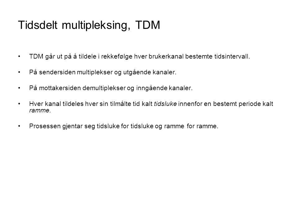 Tidsdelt multipleksing, TDM