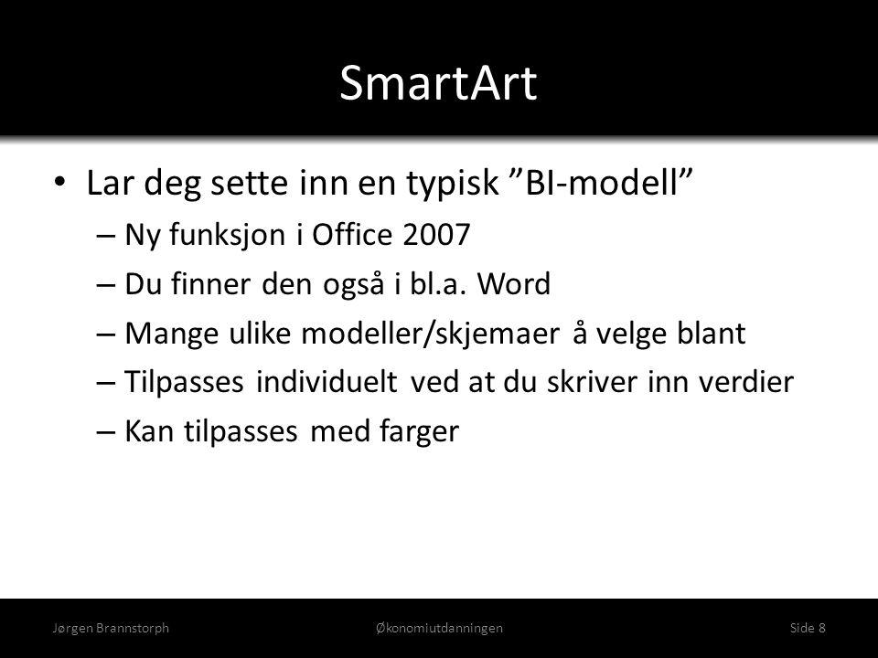 SmartArt Lar deg sette inn en typisk BI-modell