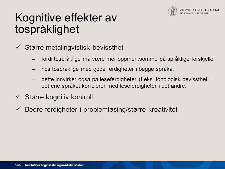 Kognitive effekter av tospråklighet