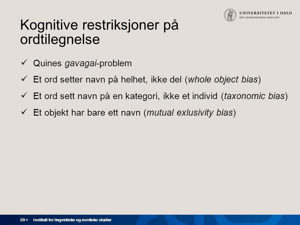 Kognitive restriksjoner på ordtilegnelse