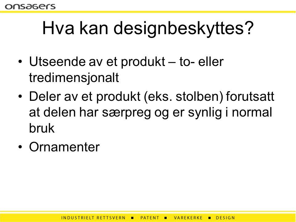 Hva kan designbeskyttes