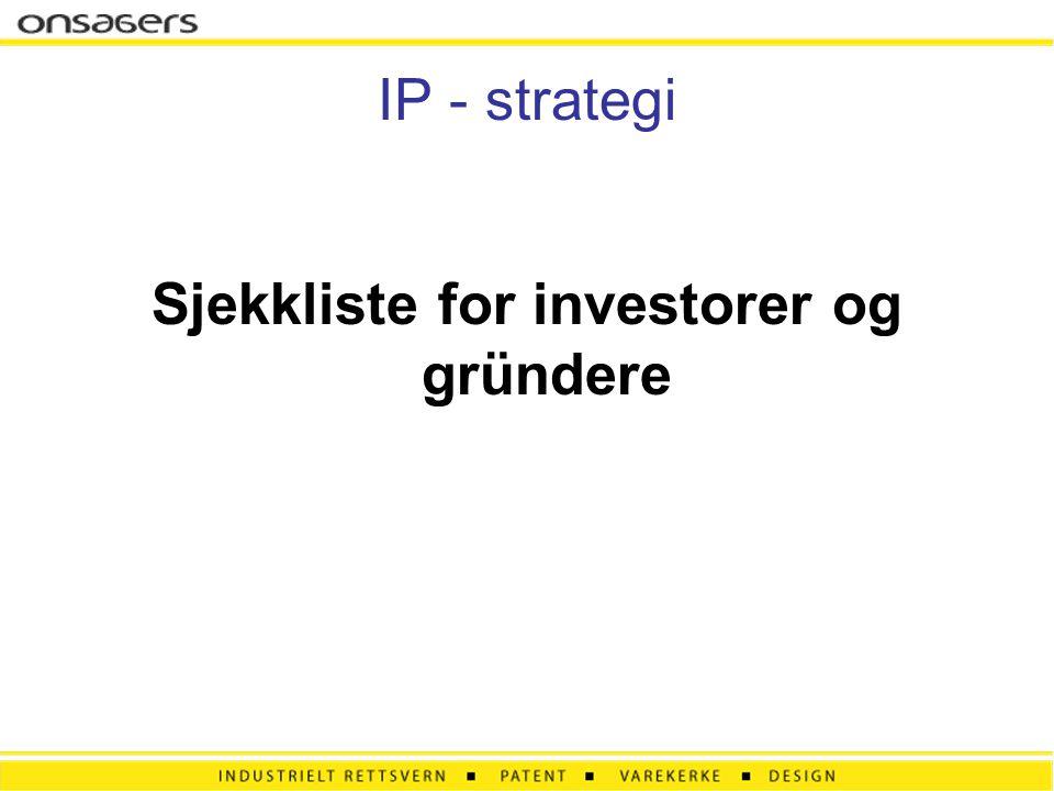 Sjekkliste for investorer og gründere