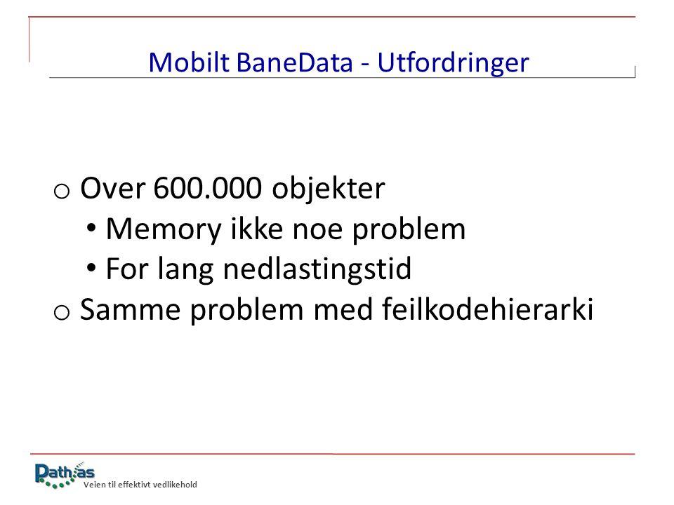 Mobilt BaneData - Utfordringer
