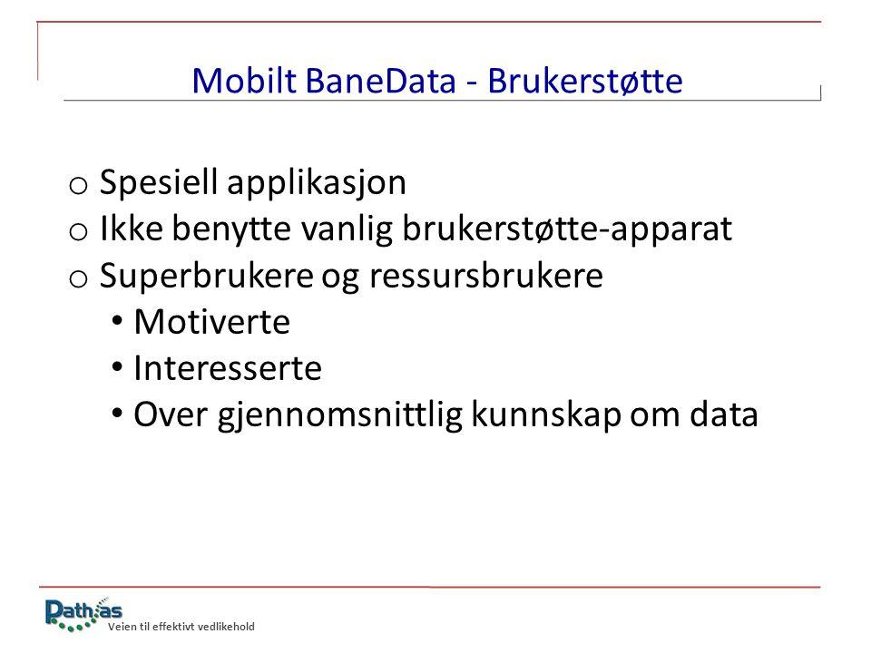 Mobilt BaneData - Brukerstøtte